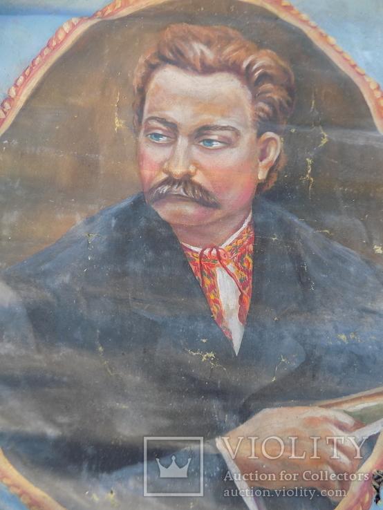 Іван Франко наївне малярство з підписом, фото №2