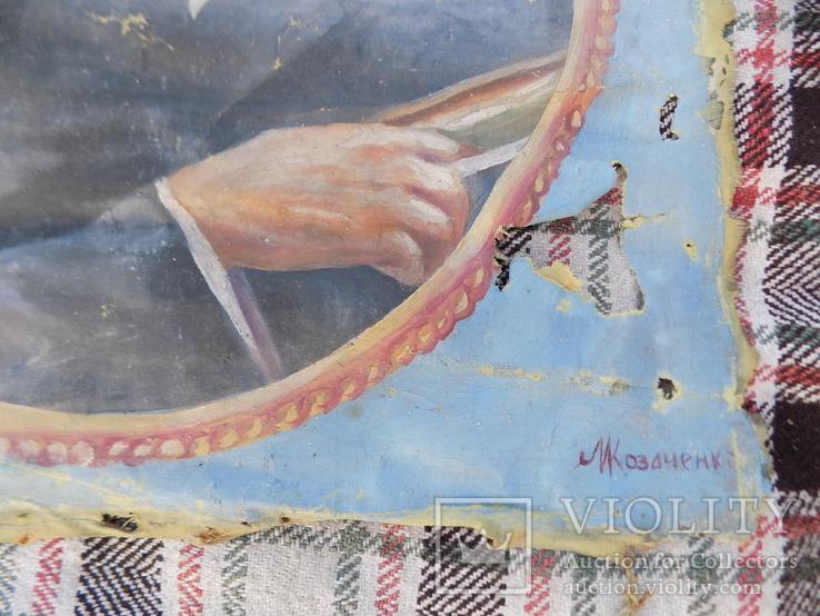 Іван Франко наївне малярство з підписом, фото №4