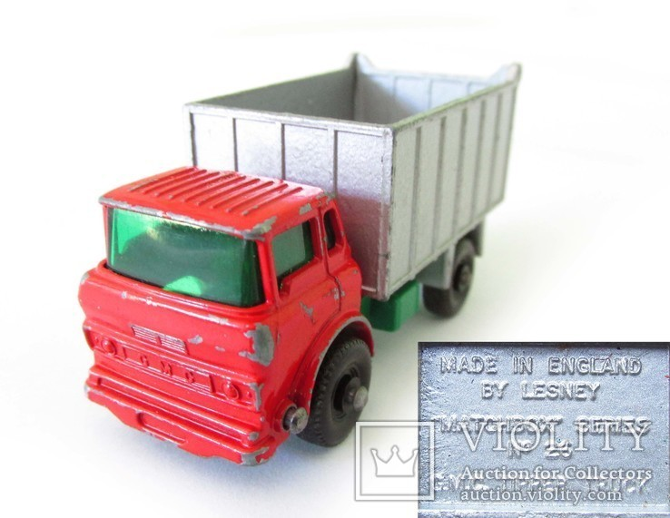 MATCHBOX модель Матчбокс 26 Regular Wheels GMC Tipper Truck VGC самосвал England 1968г., фото №2