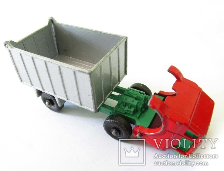 MATCHBOX модель Матчбокс 26 Regular Wheels GMC Tipper Truck VGC самосвал England 1968г., фото №5
