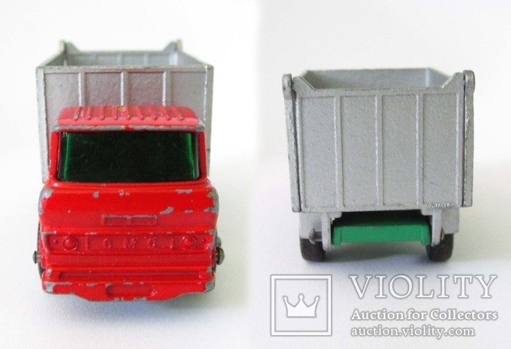 MATCHBOX модель Матчбокс 26 Regular Wheels GMC Tipper Truck VGC самосвал England 1968г., фото №9