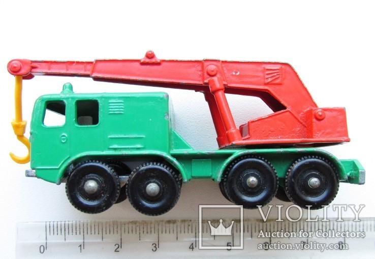 MATCHBOX модель Матчбокс № 30  Wheel Crane 8 кран England 1965 года, фото №7
