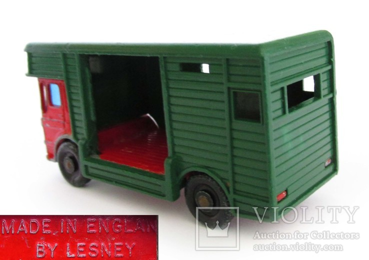 MATCHBOX Матчбокс №17 Ergomatic Cab Horse Box коневоз England 1969 год., фото №3