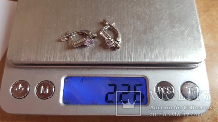 Серьги серебро 925 проба. Камни., фото №6