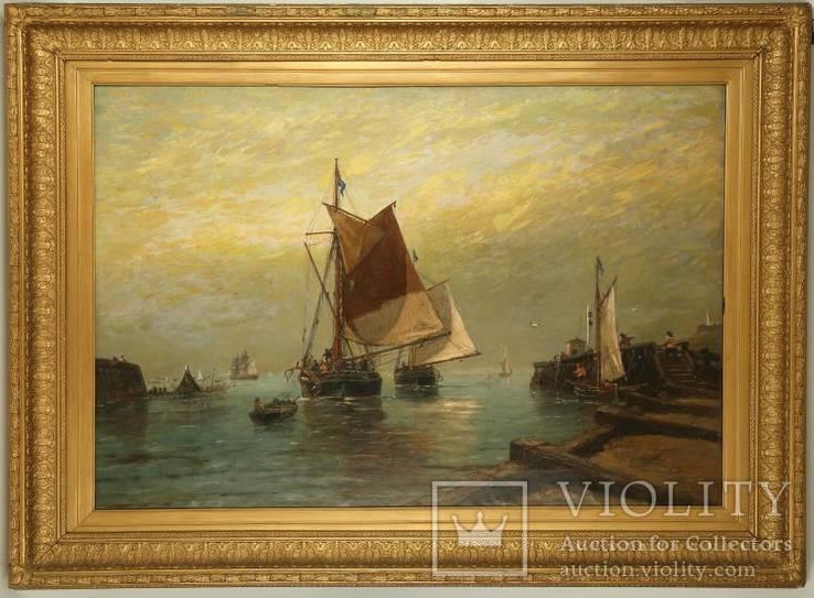 Старинная картина, масло, холст. H. B. Koekkoek 1849-1909