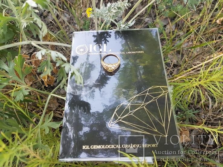 Золотой перстень с бриллиантом 0,51 карат сертификат - «VIOLITY ... 818e5f12a58