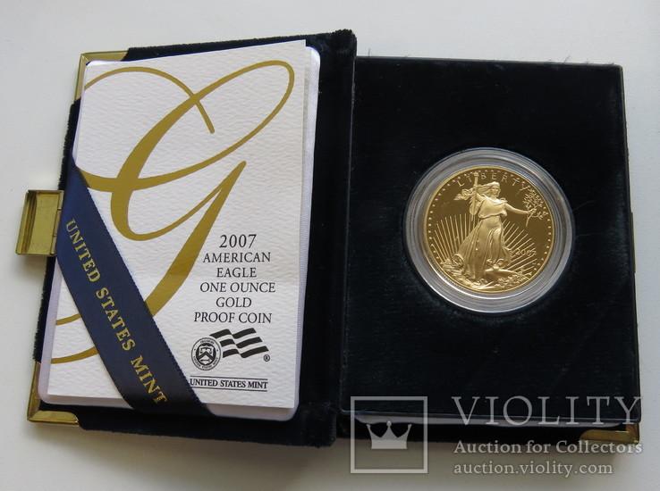 20 долларов, 2007г., полированая