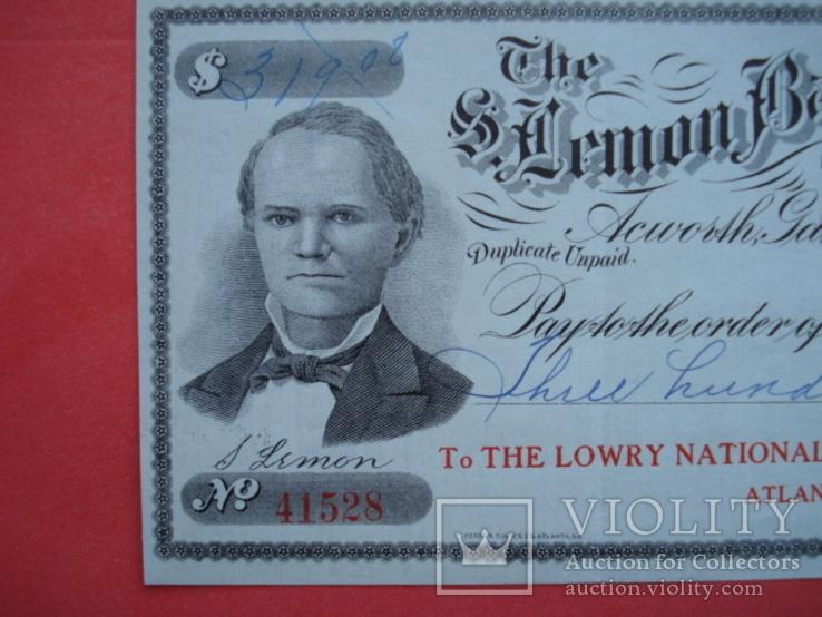 США чек 1912 год на 319,08$