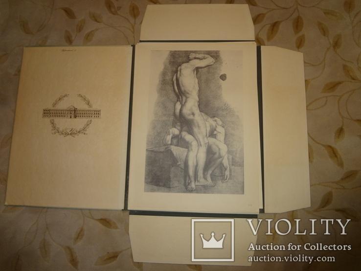 1949 Альбом рисунков обнаженных мужских тел Огромного формата 58 на 42 см., фото №3
