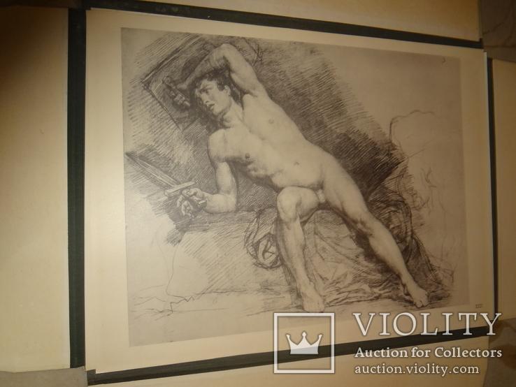 1949 Альбом рисунков обнаженных мужских тел Огромного формата 58 на 42 см., фото №4