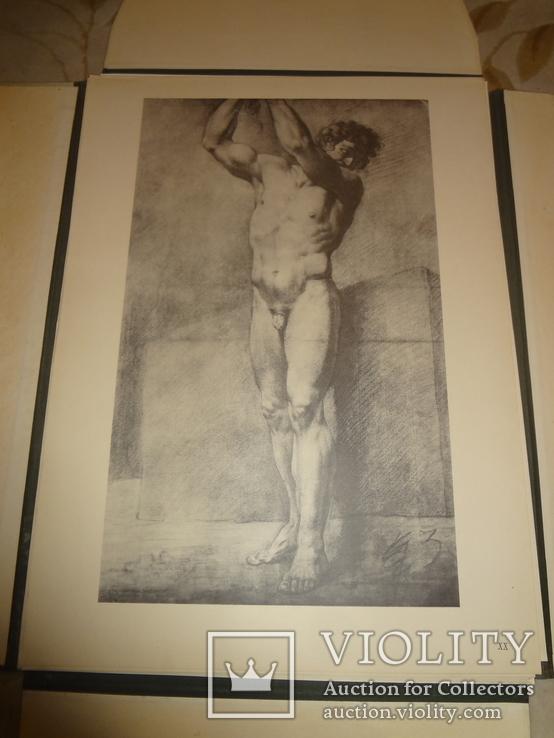 1949 Альбом рисунков обнаженных мужских тел Огромного формата 58 на 42 см., фото №6