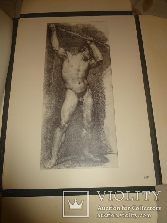 1949 Альбом рисунков обнаженных мужских тел Огромного формата 58 на 42 см., фото №8
