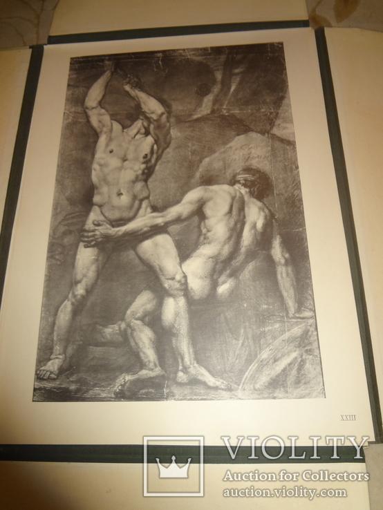 1949 Альбом рисунков обнаженных мужских тел Огромного формата 58 на 42 см., фото №9