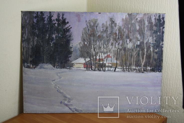 Зимний пейзаж  70х50