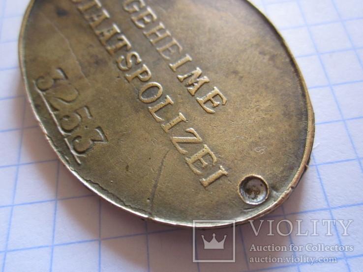 Служебный жетон Третий рейх копия, фото №5