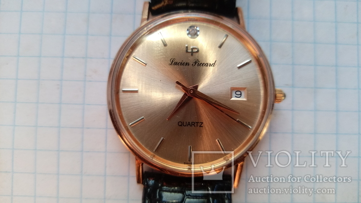 Часы 14K Rose Gold Lucien Piccard