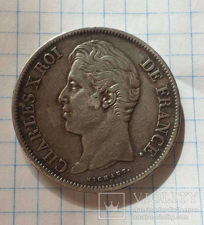 5 франков 1828 Карл