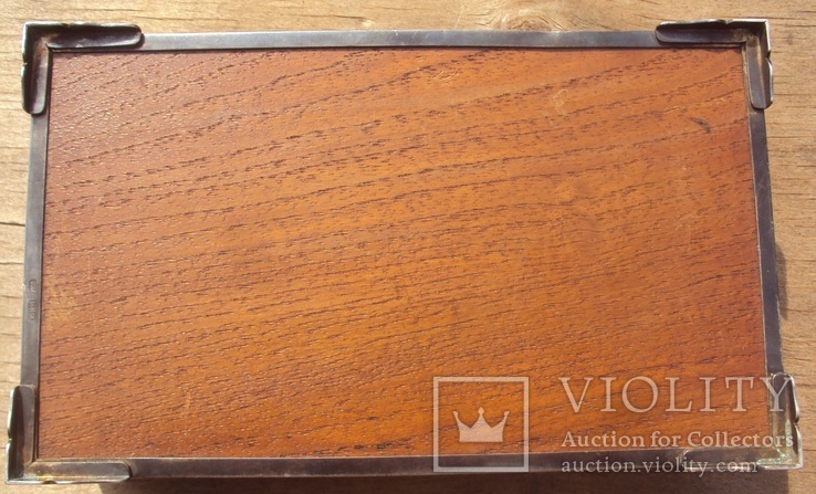 Серебряная шкатулка\хьюмидор, 426 грамм., фото №7
