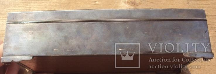 Серебряная шкатулка\хьюмидор, 426 грамм., фото №9