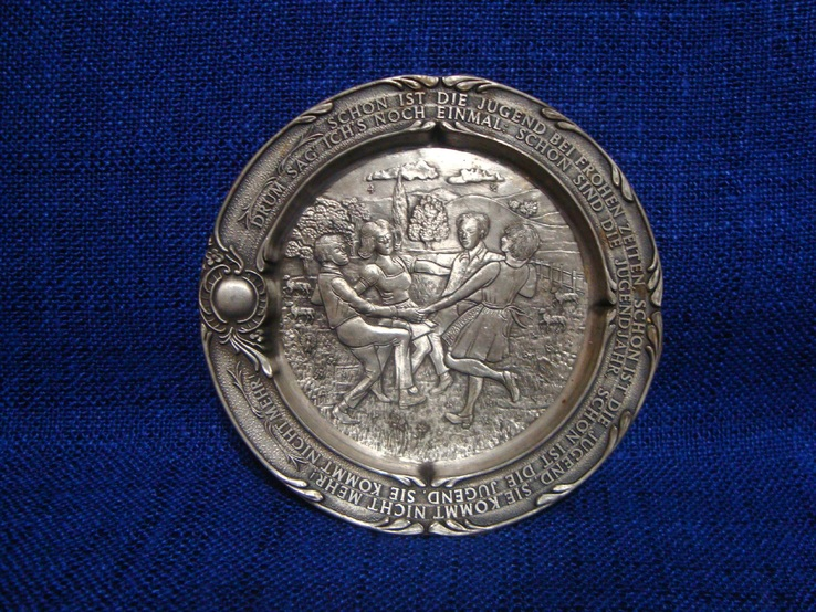 Подставка с оловянными тарелочками, бирдекелами SKS Германия, фото №5