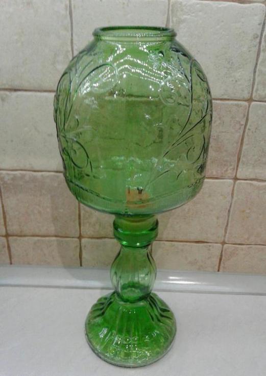 Лампа-ночник. Цветное стекло. Италия.