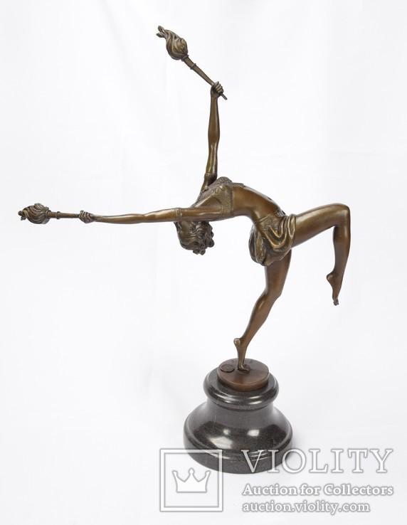 Фигурка Статуэтка Скульптура Танцовщица Бронза  45 см