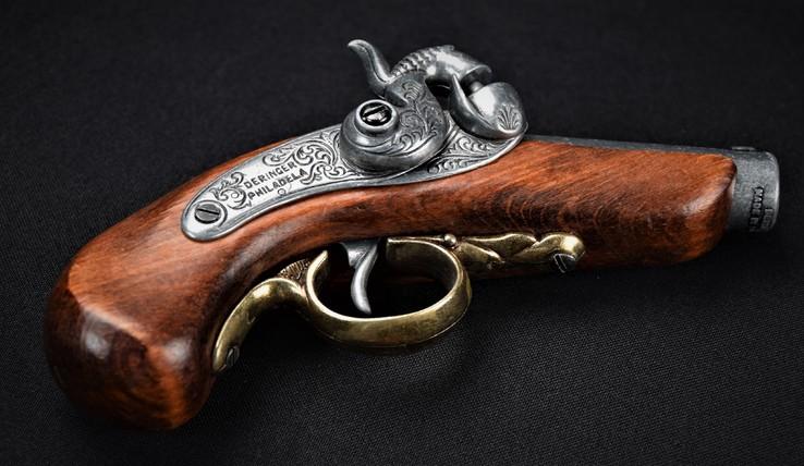 Пистоль кремниевый декорация Deringer Philadela