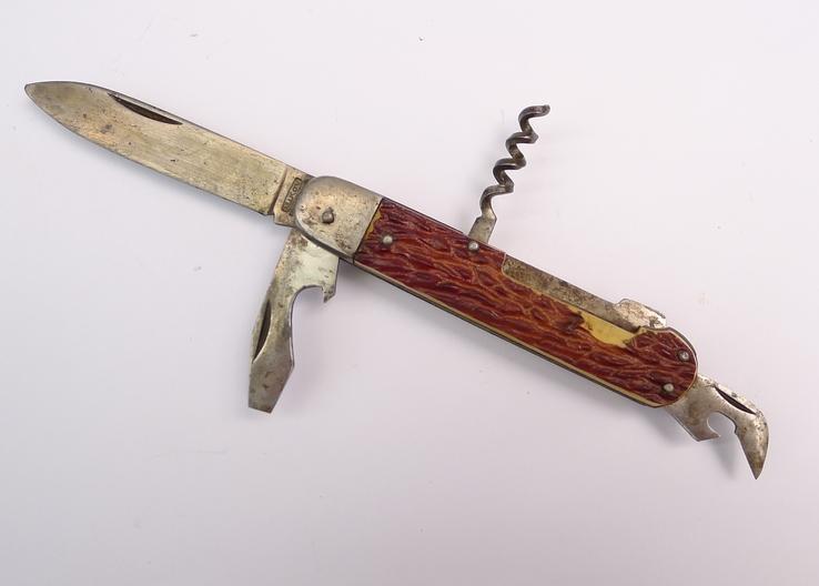 Многопредметный охотничий складной нож с фиксатором Mikov