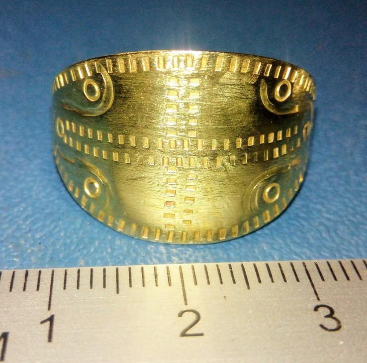 Пластинчатый перстень времён Киевской Руси 10-12 век Реплика), фото №2