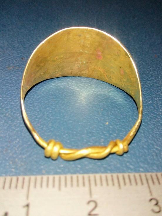Пластинчатый перстень времён Киевской Руси 10-12 век Реплика), фото №5
