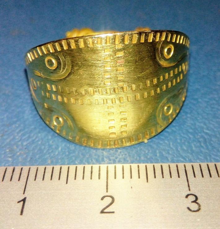 Пластинчатый перстень времён Киевской Руси 10-12 век Реплика), фото №7