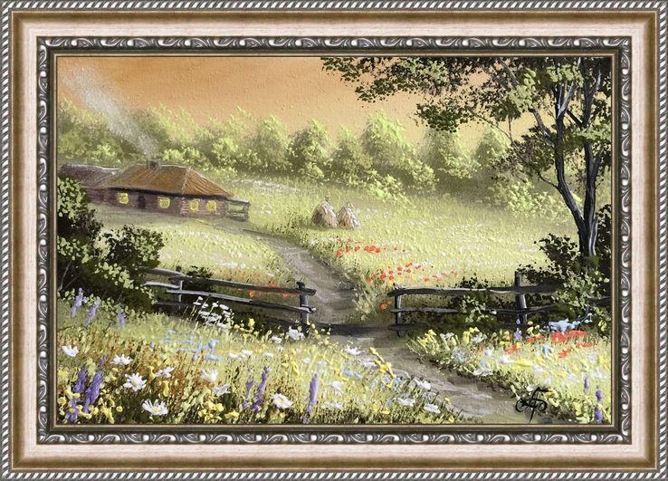 Картина Прелюдия покоя, 20х30 см. живопись на холсте, с подписью автора