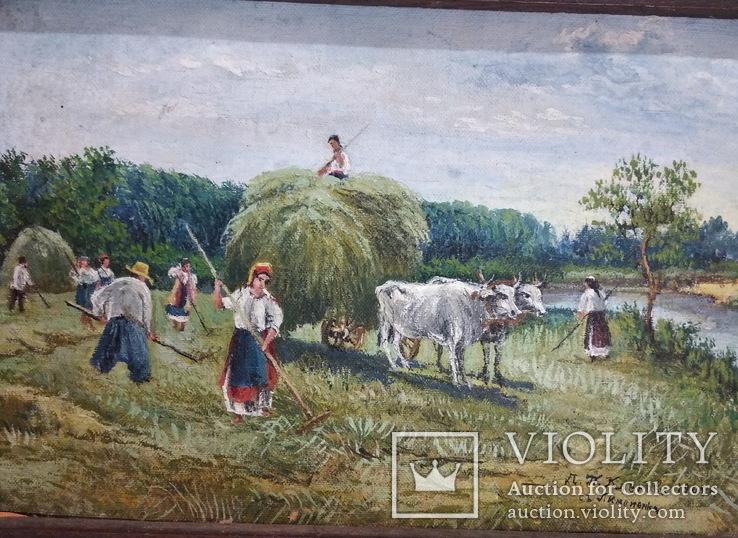 Сенокос. Д.П. Кленовъ 1908г. съ Пимоненка холст, масло