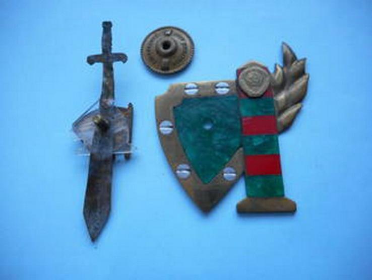 Знак ВЛКСМ, защита границы, Ленин,меч и герб СССР-разборный, фото №6