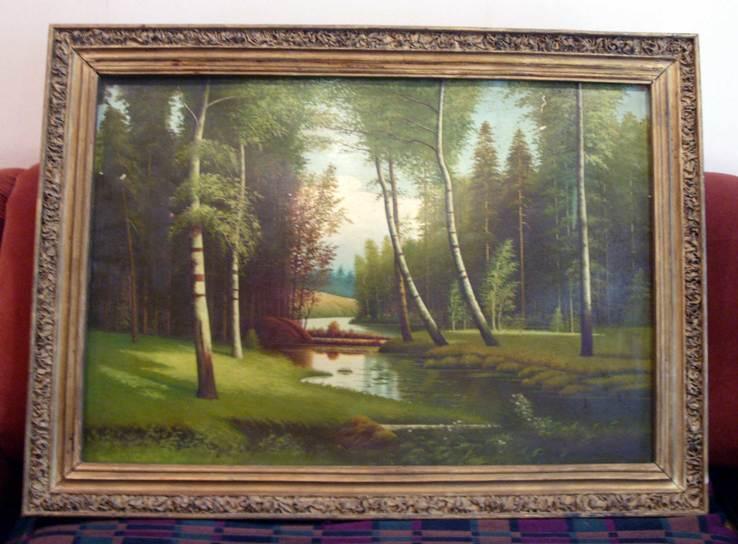 Большая картина - Лесной пейзаж