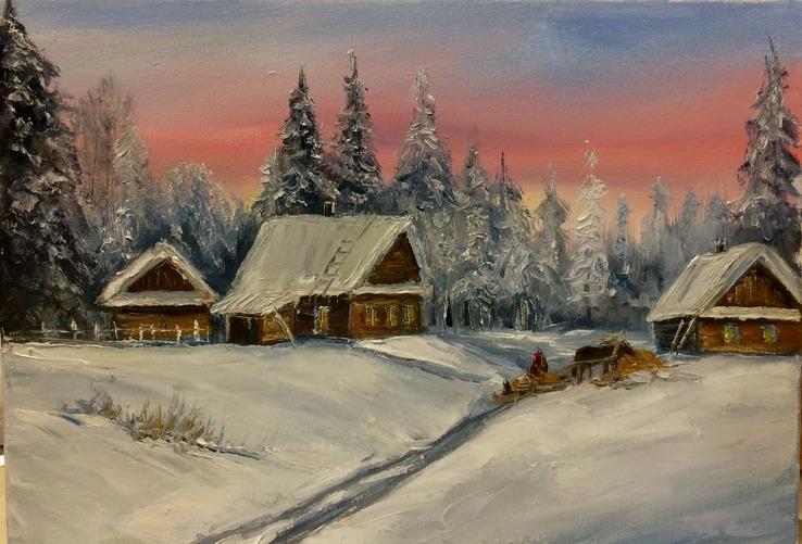 Красиво о зиме.35х25 Шаркади Н.