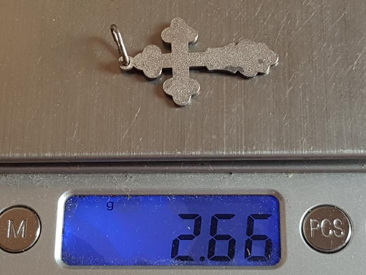 Крестик нательный серебро 925 проба. Вес 2.6, фото №7