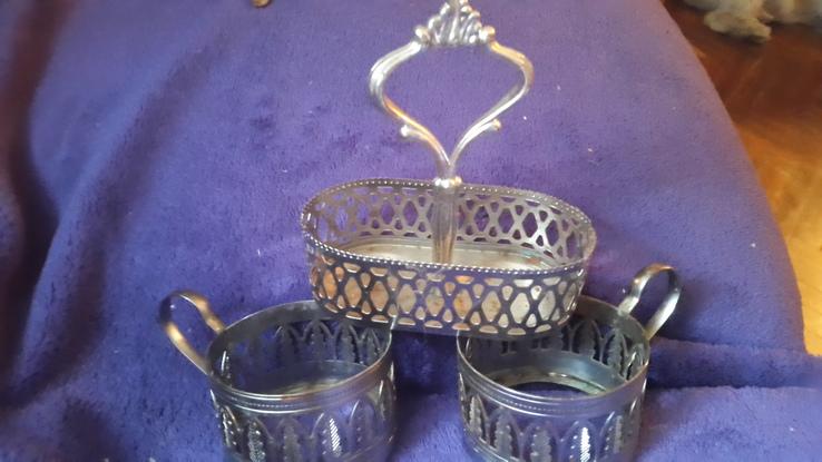 Набор для чая-2 подстаканника, фото №2