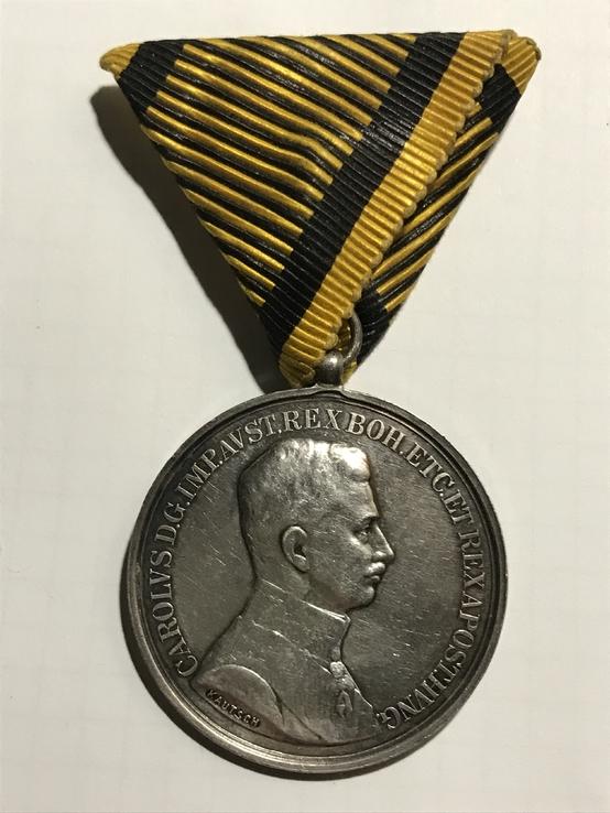 Медаль За Храбрость серебро Австрия 40мм.