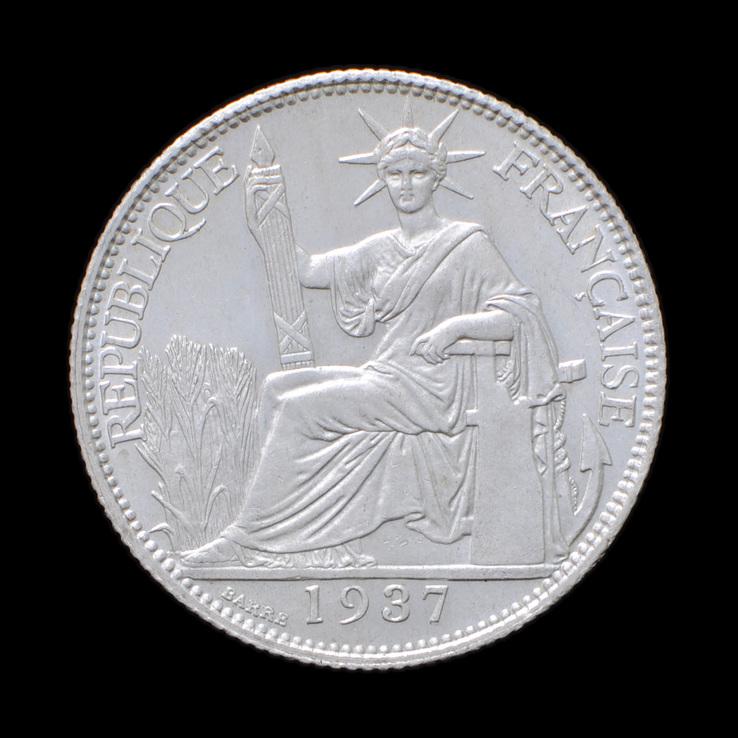 20 Сантимов 1937, Индокитай UNC