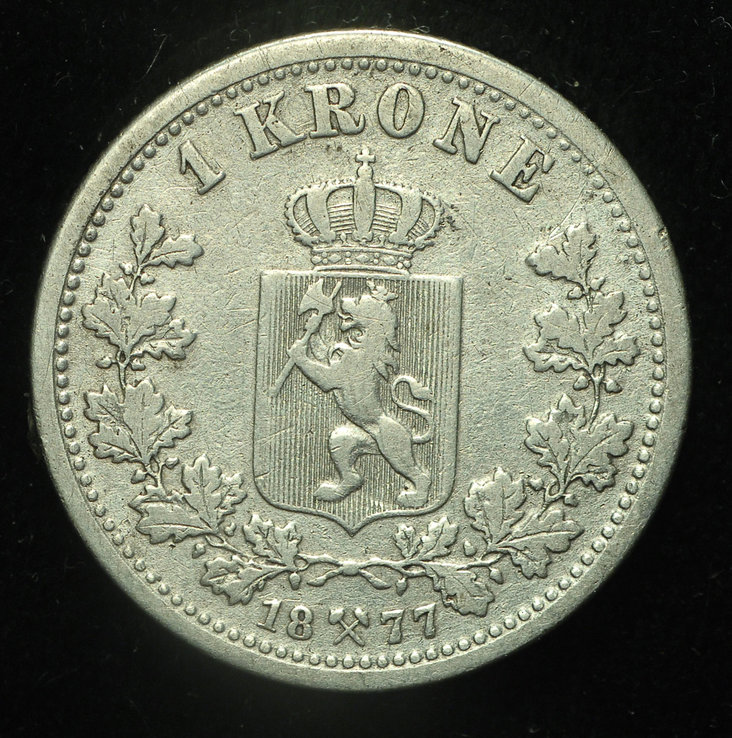 Норвегия крона 1877 серебро