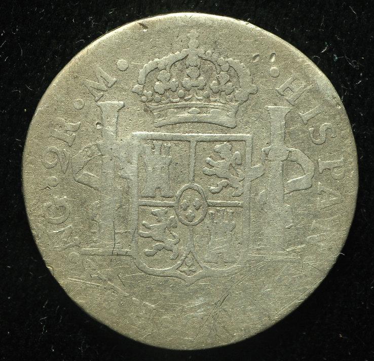 Гватемала 2 реала 1809 NG серебро