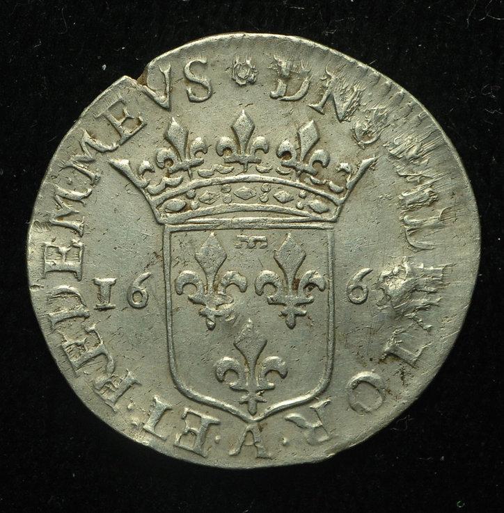 Домбе 1-12 экю 1665 серебро Анна Орлеанская