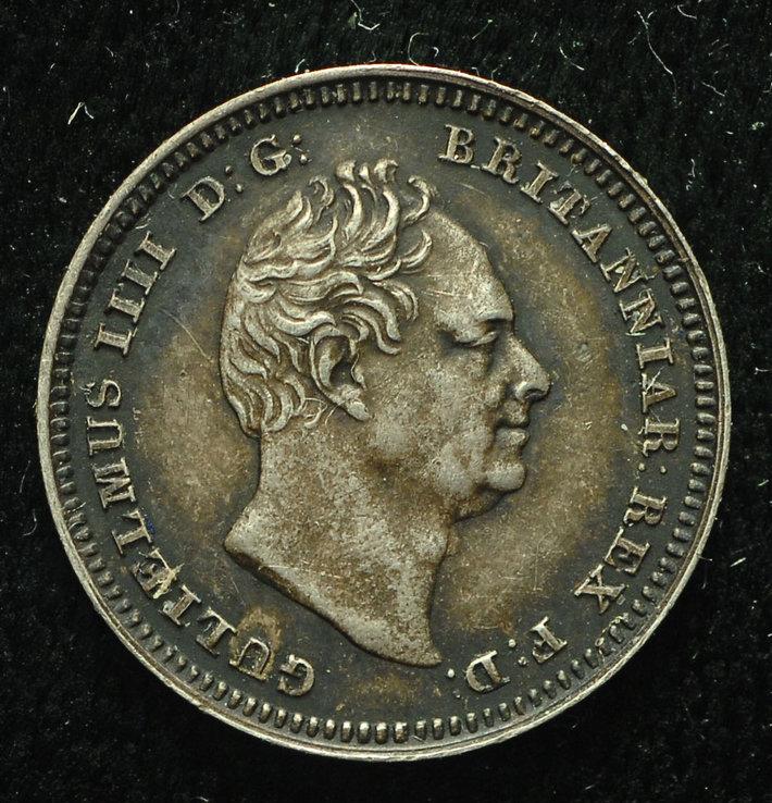 Великобритания 3 пенса 1835 Unc серебро