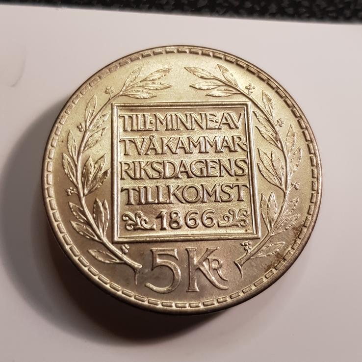 Szwecja 5 koron 1966 Reforma Konst. st.1-