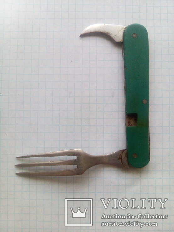 Складная вилка, открывашка., фото №3