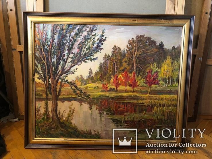 Осення Пуща-Водица,холст,масло,2002,автор-засл деятель искусств Украины В.Новиковский
