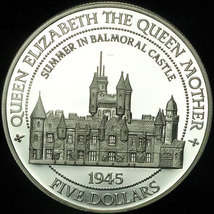 Белиз 5 долларов 1995  пруф серебро