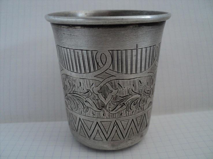 Стакан. Серебро 84пробы,1870 г.
