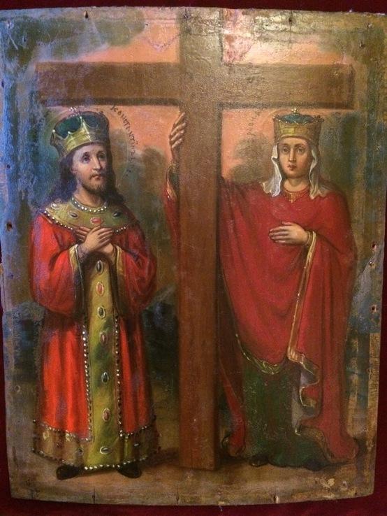 Икона «Святые равноапостольные Константин и Елена»